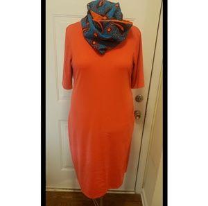 Orange Maternity Dress XXL